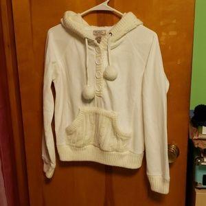Hoodie with Knitted Hood